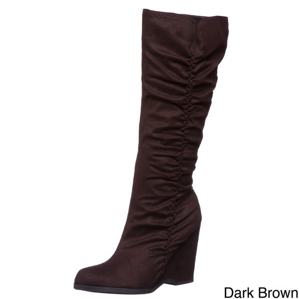 MIA Women's 'Biscuit' Tall Wedge Boots