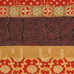 Safavieh Handmade Rodeo Drive Collage Rust/ Gold N.Z. Wool Rug (8' x 11')