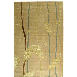 Safavieh Handmade Rodeo Drive Parad Ivory/ Gold N.Z. Wool Rug (7'6 x 9'6)