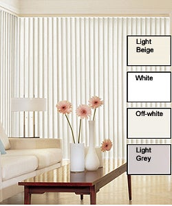 Solid Vinyl Vertical Blinds (82 in. W x Custom Length)