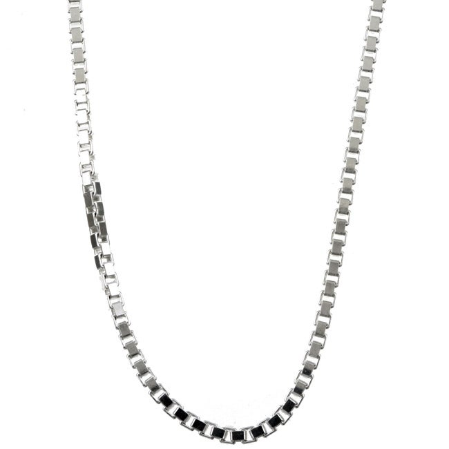 Sterling Essentials Sterling Silver 16-inch Venetian Box Chain (2mm)
