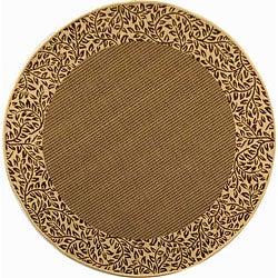 Safavieh Indoor/ Outdoor Brown/ Natural Rug (6'7 x Round)