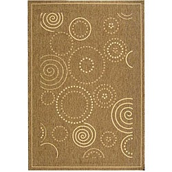Safavieh Indoor/ Outdoor Resort Brown/ Natural Rug (4' x 5'7)