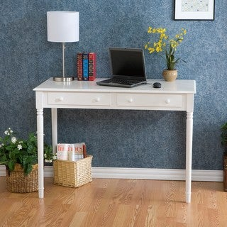 Highland 2-drawer White Writing Desk