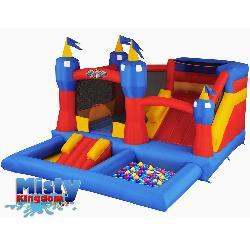 Blast Zone Misty Kingdom Bouncer Ball Pit/ Water Park
