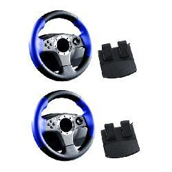 2 in 1 Racing Wheel for Playstation 2 - 2 Pack