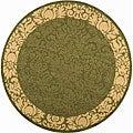 Safavieh Indoor/ Outdoor Kaii Olive/ Natural Rug (5'3 Round)