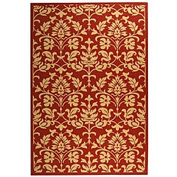 Safavieh Indoor/ Outdoor Seaview Red/ Natural Rug (6'7 x 9'6)