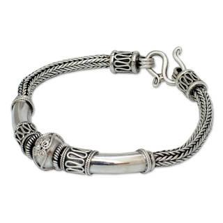 Sterling Silver 'Thai Legend' Braided Bracelet (Thailand)