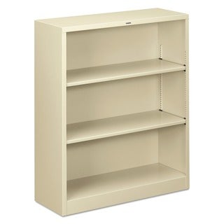 HON 3-shelf Adjustable Putty Metal Bookcase