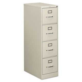 HON 510 Series 4-Drawer Full-Suspension File Cabinet (Light Gray)