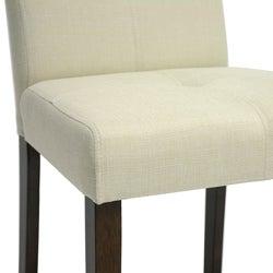 Baxton Studio Glen Cream Fabric Dining Chairs (Set of 2)