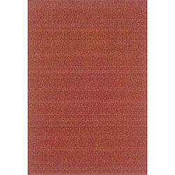 Laguna Red Polypropylene Rug (5'3 x 7'6)