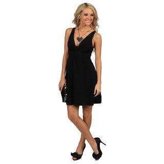 Evanese Women's Short V-neck Dress