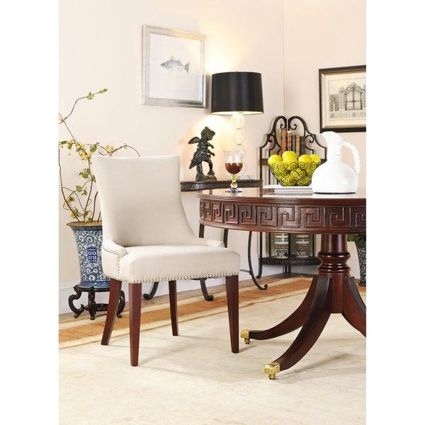 Safavieh Becca Beige Linen Dining Chair