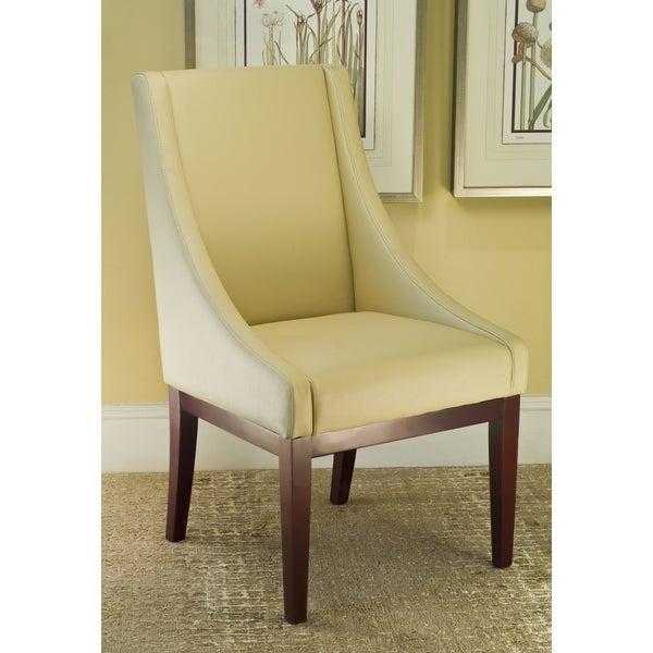 Safavieh Soho Creme Leather Arm Chair