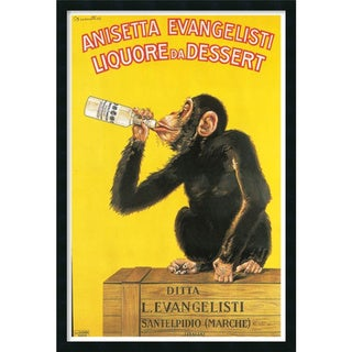 Carlo Biscaretti 'Anisetta Evangelisti Liquore da Dessert (ca. 1925)' Framed Art Print with Gel Coated Finish