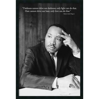 Martin Luther King Jr. - Darkness' Framed Art Print with Gel Coated Finish