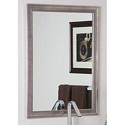 Modern Semi-Distressed Silver Mirror