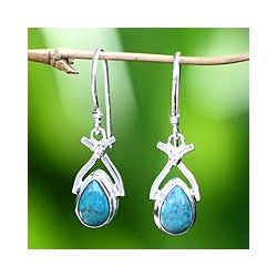 Sterling Silver 'Temptations' Turquoise Earrings (Indonesia)