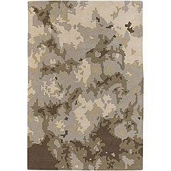 Hand-Tufted Camouflage Mandara Wool Rug (7'9 x 10'6)