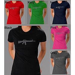 Los Angeles Pop Art Women's 'Rifle' T-shirt