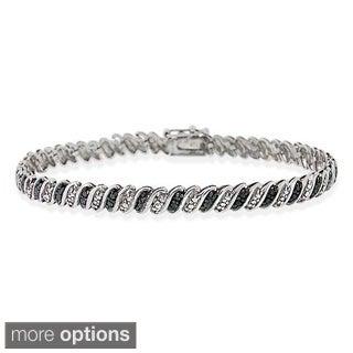 DB Designs Sterling Silver Diamond Accent Bracelet