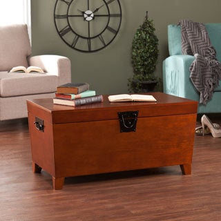 Upton Home Pyramid Trunk Oak Cocktail Table