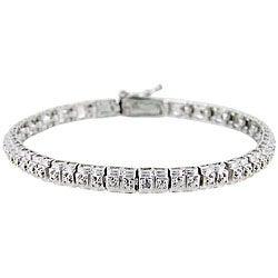 DB Designs Sterling Silver Diamond Accent Tennis Bracelet