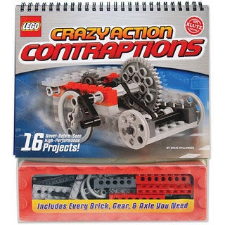 Klutz Lego Crazy Action Contraptions Book Kit with Sixteen Projects