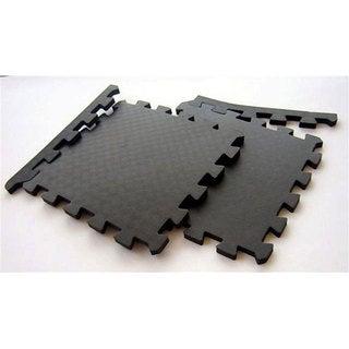 TNT Foam Black Waterproof Interlocking Gym Floor Mats (Case of 96)
