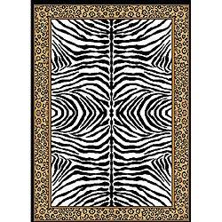 Zebra Border Rug (5'2 x 7'4)
