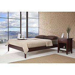 Tapered Leg Twin-size Wood Platform Bed
