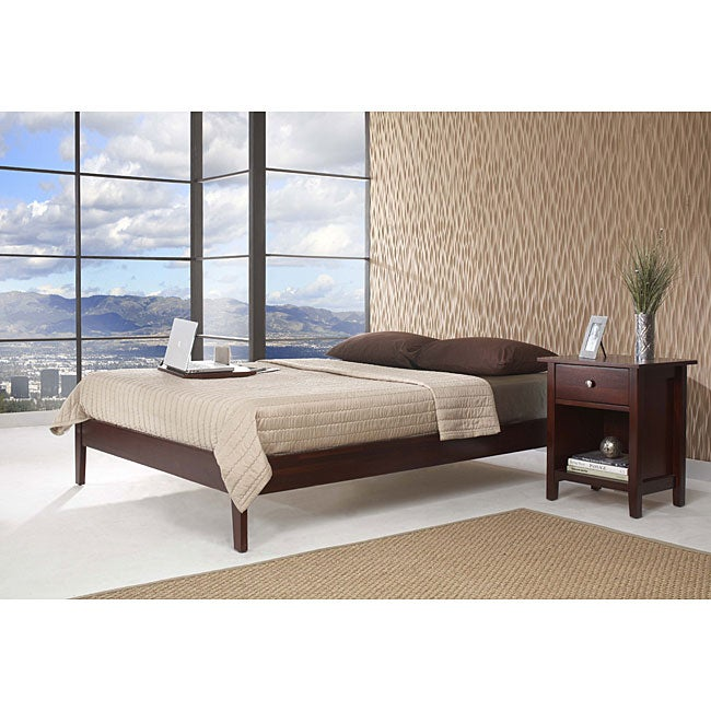 Tapered leg california king size platform bed overstock California king platform bed