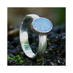 Opal 'Intensity' Solitaire Ring (Indonesia)