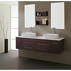 Virtu USA Augustine 60-inch Double Sink Bathroom Vanity Set
