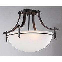 Dark Bronze 3-light Ceiling Fixture