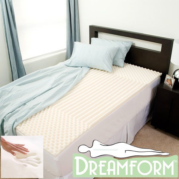 Dream Form Eco-friendly Contoured 2-inch Memory Foam Mattress Topper