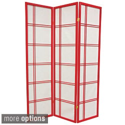 Wood and Paper Special Double Cross 6-foot Room Divider (China)