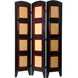 Wood and Plexiglas Photo 4-panel Room Divider (China)