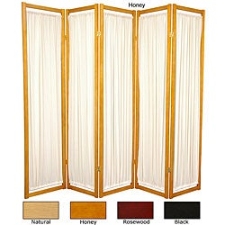 Wood and Cotton Helsinki 5-panel Room Divider (China)