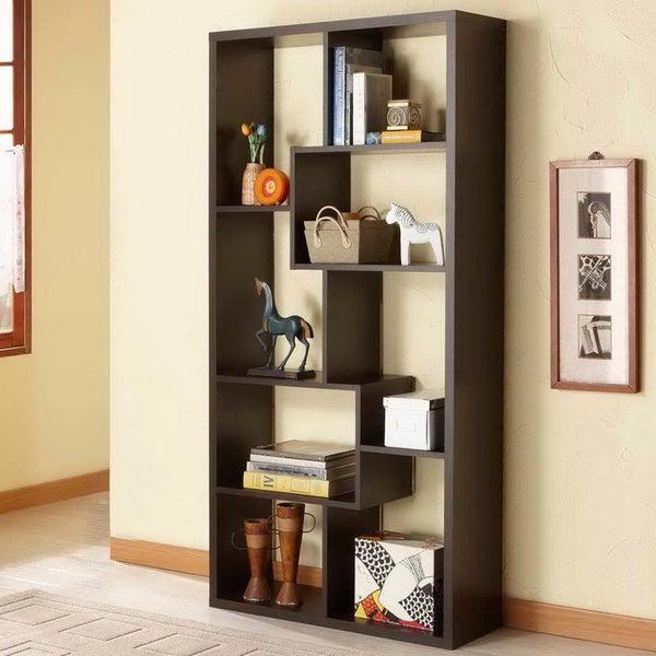 Furniture of America Verena Contoured Leveled Display Cabinet/ Bookcase