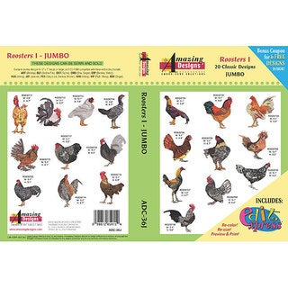 Amazing Designs Roosters Embroidery Collection