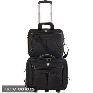 Calpak CEO 2-piece Rolling Laptop Briefcase Set