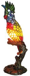Tiffany-style Multicolor Parrot Accent Lamp