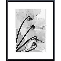 Steven Meyers 'Cyclamen Study 4' Metal Framed Art Print