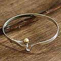 Sterling Silver 'Gold Torch' Bangle Bracelet (Peru)