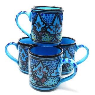 Set of 4 Sabrine Design Coffee Mugs (Tunisia)