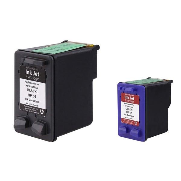 Insten HP 56/ 57 for HP Deskjet 9680/ OfficeJet 6110/ PhotoSmart 7150/ 7260/ PSC Series 2410/ 2510 (Pack of 2)
