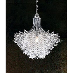 Silver Crystal Chandelier